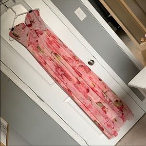Floral long gown